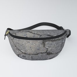 Cracked road background texture. Fanny Pack