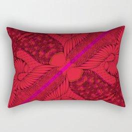 Diagonal Abstract Psychedelic Doodle 8 Rectangular Pillow