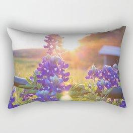 Sun Shining through the Bluebonnets Rectangular Pillow