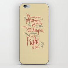 Grace Hopper sentence - I always try to Fight That - Color version, inspiration, motivation, quote iPhone & iPod Skin