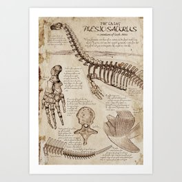 """Loch Ness Monster: """"The Living Plesiosaurus"""" - The lost notebook account Art Print"""