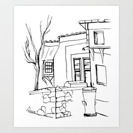 Old house on the street in the Plovdiv's old town Art Print