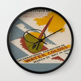 Vintage poster - International Exhibition of Water Colors Wall Clock