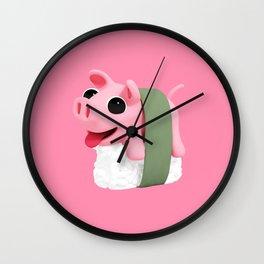 Rosa sushi pink Wall Clock