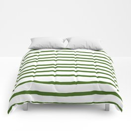 Simply Drawn Stripes in Jungle Green Comforters
