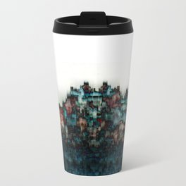 """Indigo Blue Skyline"" Travel Mug"