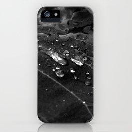 Greenery and leaf V Black and white iPhone Case