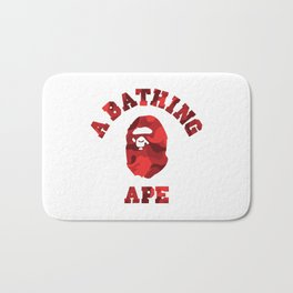 A Bathing Ape Red Bath Mat