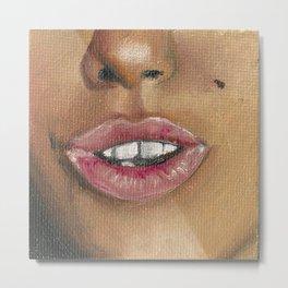 Maria - Pink Lips Metal Print