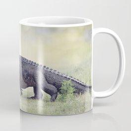 Large American Alligator walking in the wetlands Coffee Mug