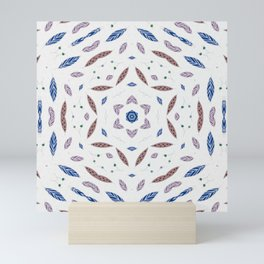 Meditate Kaleidoscope Mandala #illustration #kaleidoscope Mini Art Print