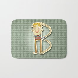 Illustrated B Bath Mat