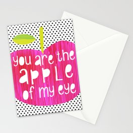 Apple of my eye - quote Stationery Cards