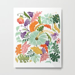 Hello Tropical Metal Print