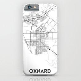 Minimal City Maps - Map Of Oxnard, California, United States iPhone Case