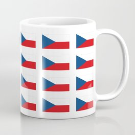flag of Czech -Czechia,Česko,Bohemia,Moravia, Silesia,Prague. Coffee Mug
