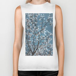 Vincent Van Gogh Dreams Of White Flowers Biker Tank