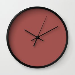 Colors of Autumn Pink Spice Solid Color Wall Clock