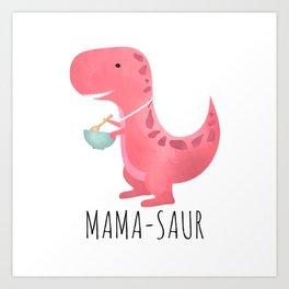 Mama-saur Art Print