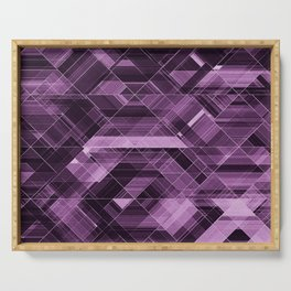 Abstract violet pattern Serving Tray