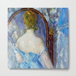 "Édouard Manet ""Before the Mirror (or Devant la glace)"" Metal Print"