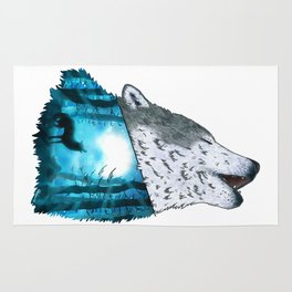 Wolf's Song Rug