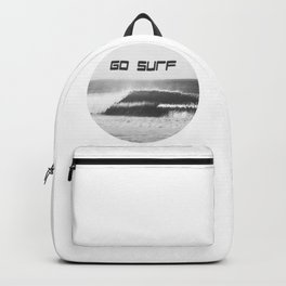 Black and White Wave Backpack