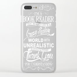 BOOK READER'S WORLD Clear iPhone Case