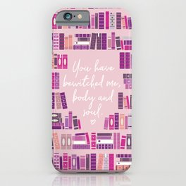 Mr Darcy Quote Bookcase iPhone Case