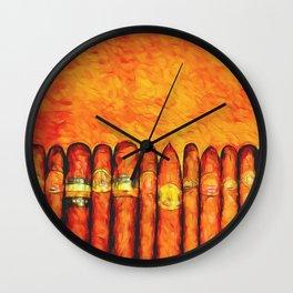 Cuban Cigars Wall Clock