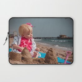 Baby doll at the beach Laptop Sleeve