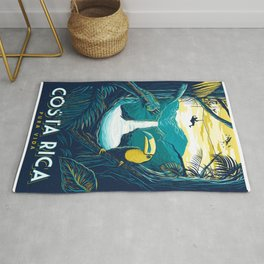 costa rica rainforest Rug