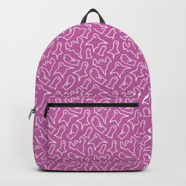 Purple ghost pattern Backpack