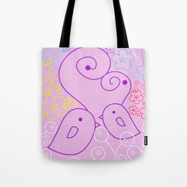 The Birds and the Flowers Tote Bag