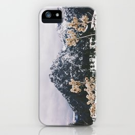 Mountains + Flowers iPhone Case