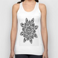 zentangle Tank Tops featuring Zentangle by Cady Bogart