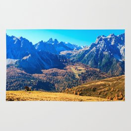 Autumn trekking in the alpine Pusteria valley Rug