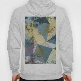 psychedelic geometric triangle polygon pattern abstract in blue yellow pink Hoody