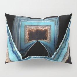 Blue Geode Pillow Sham