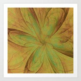Fall Blossom Fractal Art Print