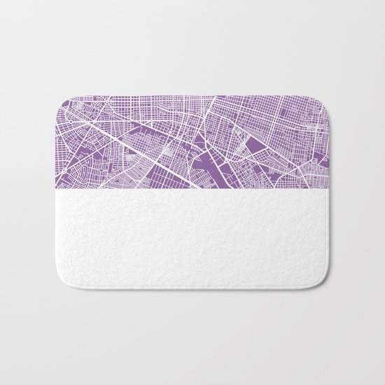 Guadalajara map lilac Bath Mat