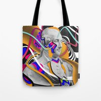 washington Tote Bags featuring George Washington by Danny Ivan