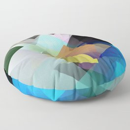 Holographic mountains in Silicon Valley. Floor Pillow