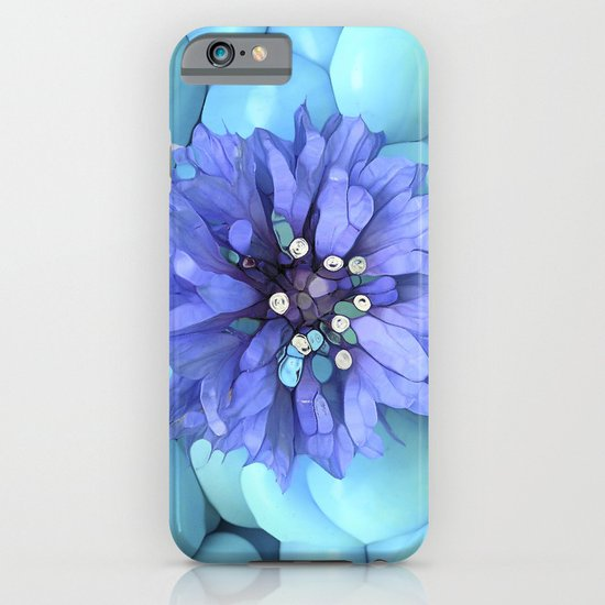 Eco-Abstract Blue iPhone & iPod Case
