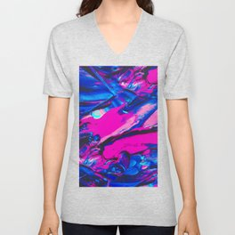 Marble Abstract Oil Painting Unisex V-Neck
