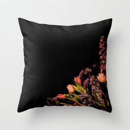 Floral Corner Throw Pillow