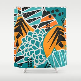 Leaf tropicana Shower Curtain