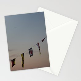 Flags and sunset Leith Edinburgh Stationery Cards