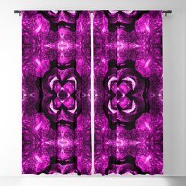 Pink Pattern Geometry Symmetrical Abstract Art Blackout Curtain