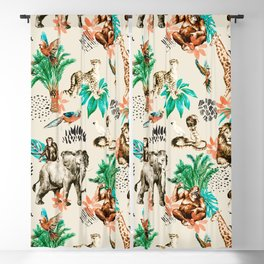 Wild animals Blackout Curtain